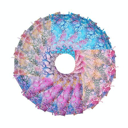 """PandaHall Elite 100pcs 4 Color Coralline Pattern Organza Drawstring Bags Wedding Favor Party Candy Chocolate Party Jewelry Bags, 4.7"""" x 7"""""""