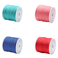 Unicraftale Nylon Thread Nylon String for Beading Jewelry Making, Mixed Color, 0.8mm; about 100m/roll, 4 colors, 1roll/color, 4rolls