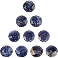 NBEADS 10 Pcs 12mm Faceted Natural Gemstone Cabochons, Mixed Color Half Round Natural Stone Cabochons Loose Gemstone Healing Stones for Jewelry Making