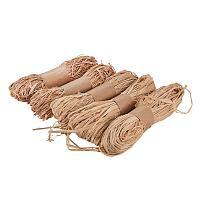 PandaHall Elite Natural Raffia Grass - Raffia Ribbon Perfect for Crafts Weaving or Bouquets Decoration, 5 Bundles