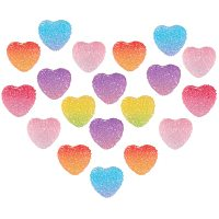 NBEADS About 80Pcs Slime Charms, Candy Resin Cabochon Love Heart Sweet Candy Model Epoxy Resin Flatback Heart Shape Ornament for Scrapbooking Crafts