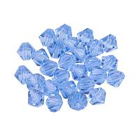 ARRICRAFT 50pcs Imitation Austrian Crystal Glass Beads Faceted Round Bicone Clear Grade AAA Beads for Jewelry Craft Making 6mm Hole: 1mm Blue