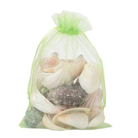 ARRICRAFT 100 PCS 5x7 inch LightGreen Organza Drawstring Bags Party Wedding Favor Gift Bags