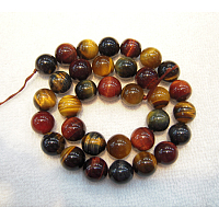 ARRICRAFT Gemstone Beads, Colorful Tiger Eye, Grade A, Round, Colorful, 8mm, Hole: 1mm, 46pcs/strand 15.2 inches