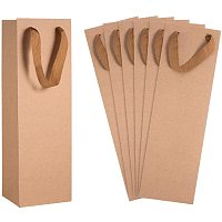 "Arricraft 15PCS Long Kraft Paper Bags Liquor Bags Wine Bag one Bottle Gift Bags for Wedding, Birthday, Baby Shower, Party Favors 10.9x9x34.8cm (4.3""X3.5""X13.7"")"