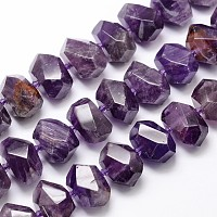 ARRICRAFT Natural Amethyst Bead Strands, Nuggets, 15~25x13~17mm, Hole: 2.5mm; about 26pcs/strand, 16 inches