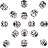 NBEADS 100 Pcs 6mm Barrel Tibetan Style Alloy Beads, Antique Silver Metal Spacer Beads Column Loose Connector Charm Beads for DIY Bracelet Necklace Jewelry Making