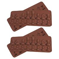 ARRICRAFT International Chess Shape Silicone Mold for Resin Epoxy, Earring Necklace Making and DIY Jewelry Craft Making, Coconut Brown