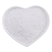 ORNALAND Ceylon Glass Seed Beads, Grade A, Round, Snow, 2.3x1.5mm, Hole: 1mm; about 17000pcs/bag