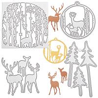 Gorgecraft Christmas Carbon Steel Cutting Dies Stencils, for DIY Scrapbooking/Photo Album, Decorative Embossing DIY Paper Card, Mixed Shapes, Matte Platinum Color, 4pcs/set