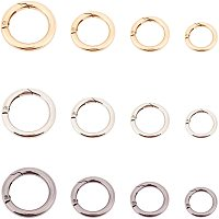 PandaHall Elite 24 pcs 3 Colors 20/25/28/35mm Spring O Ring Round Carabiner Snap Clip Hook Trigger Spring Keyring Buckle for Keychain Bags Purse Jewelry DIY Craft Making, Light Gold/Platinum/Gunmetal