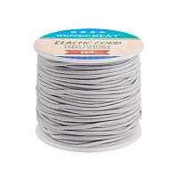 BENECREAT 2mm 55 Yards Elastic Cord Beading Stretch Thread Fabric Crafting Cord for Jewelry Craft Making (Gainsboro)