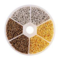 PandaHall Elite About 2550 Pcs Iron Oval Open Jump Rings Chainmail Link 6x4mm Wire 21-Gauge for Jewelry Findings 3 Colors
