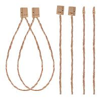 PandaHall Elite About 1200pcs 7 Inch Hang Tag Fasteners Price Tag String Hemp Twine Snap Locks Pin Security Loop for Stores Jewelry Merchandise Clothing