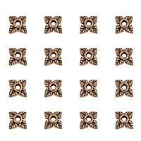 ARRICRAFT 1000PCS Antique Golden Tibetan Silver Bead Caps Lead Free & Cadmium Free, 6x6mm