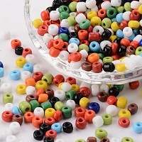 ARRICRAFT 6/0 Glass Seed Beads Round Pony Bead Diameter 4mm About 4500Pcs for Jewelry DIY Craft Mixed Opaque Colors