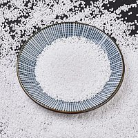 MIYUKI Delica Beads, Cylinder, Japanese Seed Beads, 11/0, (DB0351) Matte White, 1.3x1.6mm, Hole: 0.8mm; about 2000pcs/10g