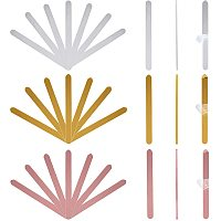 Reusable Acrylic Cakesicle Sticks, for DIY Ice Ice Cream Cakesicle Mold, Mixed Color, 115x9.5x2.5mm; 30pcs/set