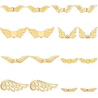 PandaHall Elite 160 pcs 8 Styles Angel Wing Charms, Tibetan Style Alloy Wing Spacer Beads for Earring Bracelet Pendants Necklace Jewelry DIY Craft Making, Golden