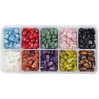 PandaHall Elite 1 Box Tumbled Mixed Chip Gemstone Beads Crushed Pieces Stone for Jewelry Making