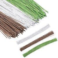 PandaHall 360pcs 3 Colors 14 Inch Floral Stem Wire Handmade Bouquet Stem Crafting Floral Wire,Artificial Plant Stub Stem for Flower Arrangements for DIY Material Handmade Accessoies
