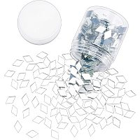 PandaHall Elite 280g Clear Rhombus Glass Mirror Tiles Mini Glass Decorative Mosaic Tiles for Home Decoration Crafts Craft Supplies, 0.76 x 0.45 x 0.01 Inch
