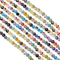 Pandahall Elite 10 Strands 6mm Millefiori Lampwork Glass Beads Round Spacer Bead for Jewelry Making (650pcs)