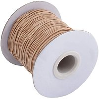 PandaHall Elite About 85 Yards/roll 1mm Korean Waxed Polyester Cord Waxed Cord Thread Beading Thread for Jewellery Bracelets Craft Making (Burlywood)