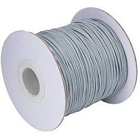 PandaHall Elite About 85 Yards/roll 1mm Korean Waxed Polyester Cord Waxed Cord Thread Beading Thread for Jewellery Bracelets Craft Making (LightGrey)