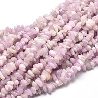 """NBEADS 5 Strands Natural Kunzite Chips Beads Precious Gemstone Beads, Charm Loose Beads for Jewelry Making, 1 Strand 15.5""""~16.1"""""""
