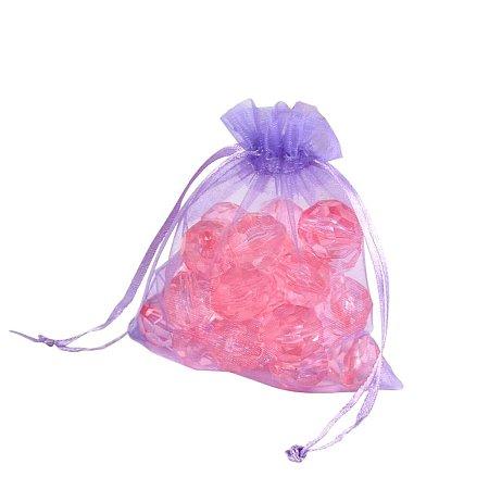 NBEADS 200PCS Organza Bags, Lilac, 12x10cm
