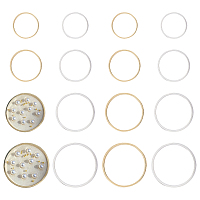 Olycraft Brass Linking Rings, Lead Free & Nickel Free, Ring, Mixed Color, 20~35x1mm; 160pcs/box