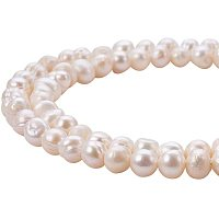 Natural Cultured Freshwater Pearl Beads, Grade A, Potato, Beige, 6~7mm, Hole: 0.8mm; 14.1 inches/strand, 2strands/box