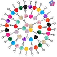 SUNNYCLUE DIY Flower Keychain  Making Kits, include Resin Beads and Zinc Alloy Lobster Claw Clasps, Iron Flat Head Pins, Mixed Color, Resin Beads: 24x13mm, hole: 1.5mm, 48pcs/set