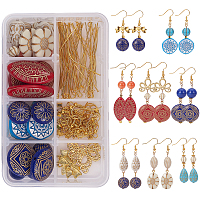 SUNNYCLUE DIY Earring Making, with Acrylic Beads, Alloy Links, Brass Bead SpacersTibetan Silver Spacers Beads and Brass Earring Hooks, Mixed Color, 11x7x3cm