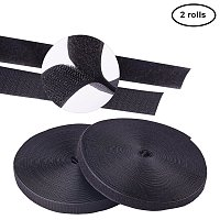 NBEADS 2 Rolls 50m Black Self Adhesive Hook and Loop Tapes Roll Sticky Back Tape Fastener for Picture and Tools Hanging Pedal Board Fastening