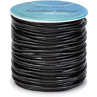 BENECREAT 30 Yards 2mm Round Genuine Leather Cord Black Leather Cord String for Bracelet Necklace Beading Jewelry Making DIY Crafts