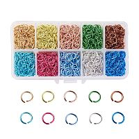 ARRICRAFT 1 Box (about 1300PCS) 10 Color Aluminum Wire Open Jump Rings for jewelry Making Accessories 10x1mm