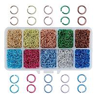 ARRICRAFT 1 Box (about 5000PCS) 10 Color Aluminum Wire Open Jump Rings for jewelry Making Accessories 6x0.8mm