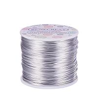 BENECREAT 18 Guage Aluminum Wire Length 492FT Anodized Jewelry Craft Making Beading Floral Colored Aluminum Craft Wire - Silver