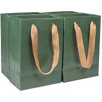 PH PandaHall 10pcs Medium Kraft Paper Gift Bags with Handles, Green Kraft Bags, Party Bags, Retail Paper Bags Bulk, Merchandise Bag, Wedding Party Bag(6x3.5x8.6 inches)