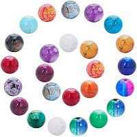 NBEADS About 300g Baking Painted Glass Beads, Assorted Colors Round Loose Spacer Beads Bulk for DIY Crafts Jewelry Making