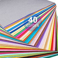 BENECREAT 40PCS 12 x 12 inches (30cm x 30cm) Soft Felt Fabric Sheet Assorted Color Felt Pack DIY Craft Sewing Squares Nonwoven Patchwork