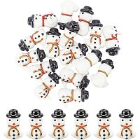 Arricraft 20 Pcs Christmas Snowman Beads, Handmade Lampwork Beads Spacer, Glass Beads for Jewelry Making, White