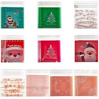 NBEADS 300 Pcs Cellophane Bags, Self-Adhesive Sealing Treat Bags OPP Plastic Bag Christmas Candy Bags for Christmas Party Favors