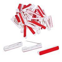 PandaHall Elite 120 Pack 1.4 Inch Safety Bar Pins, Adhesive Back Badge Crafting Pins for ID Badges, Brooch, Name Tags, Ribbons, Clothes