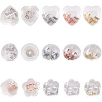 PandaHall Elite 48 Pairs 4 Colors Silicone Earring Backs Rubber Soft Clear Earring Backs Safety Replacements Earring Backs for Studs