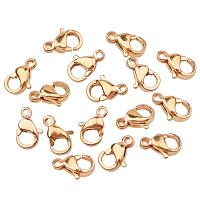 ARRICRAFT 100PCS Grade A 304 Stainless Steel Lobster Claw Clasps Golden 13x8mm Jewelry Findings