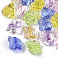 Transparent Acrylic Beads, Nuggets, Mixed Color, 12.5x12x10mm, Hole: 1.5mm; about 580pcs/500g