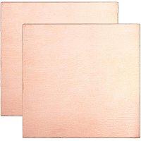 BENECREAT 2 Packs 20 Gauge Pure Copper Sheet 4x4 Single Filmed Metal Square Sheet for Mechanical Cutting, Precision Machining, Mould Making